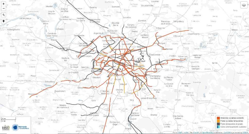 Fahrradnetzwerk Paris